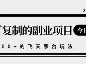 副业项目《可复制撸飞天茅台玩法,日入1000+》视频教程