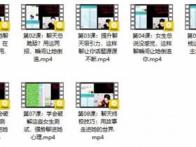 摸鱼情感《恋爱聊天大师》视频教程