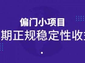 副业项目《偏门小项目,长期正规稳定性收益》视频教程