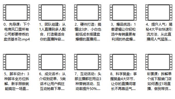 短视频教程《0基础直播带货课》视频网盘下载