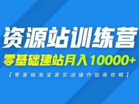 上班族副业:零基础资源站建站项目,月入10000+实战虚拟项目